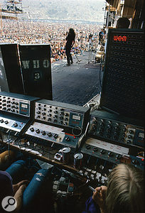 Free at the 1970 Isle Of Wight Festival, mixed on WEM Audiomasters and playing through the Who's WEM column speakers.