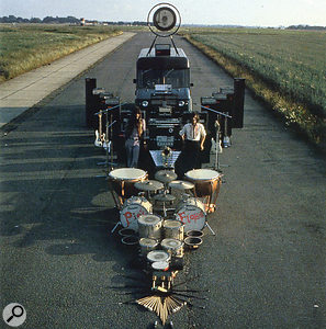 The back cover of Pink Floyd's Ummagumma album. Pink Floyd were avid users of WEM PA gear.