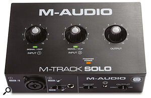 M‑Audio's sub‑£50/$50 M‑Track Solo might offer everything you need to start recording.