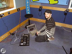 Recording XFM Radio Sessions