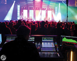 Rabold is a fan of DiGiCo consoles, and uses the SD7 for Bruno Mars's concerts.