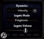 CineBrass offers a choice of monophonic and polyphonic real interval legato. With the latter you can play legato harmony lines and chords in real time!