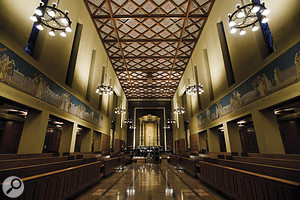 The opulent interior of St Thomas Chapel, Bastyr University, Seattle, where the choir was recorded.