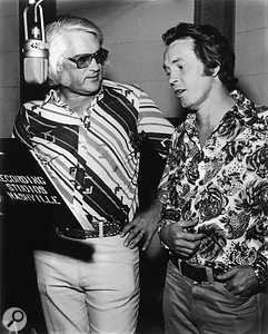 Charlie Rich and producer Billy Sherrill in Columbia's Studio B: the Quonset hut.