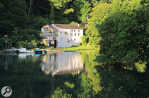 There have got to be worse places to record an album; Sawmills on the banks of the River Fowey.