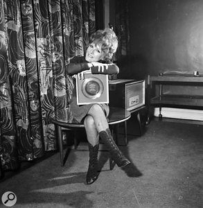 Petula Clark with a gold disc for 'Downtown', 1965.