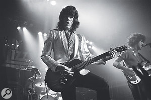 Gary moore on stage with Thin Lizzy, 1979.