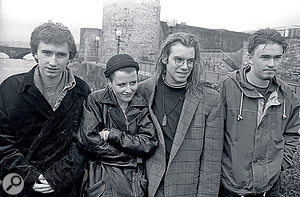 The Cranberries in their hometown of Limerick, 1993.
