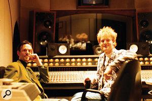 Darren Allison (right) in The Church's Studio B control room.