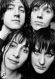 My Bloody Valentine. Clockwise from top left: Kevin Shields, Colm Ó Cíosóig, Debbie Googe and Bilinda Butcher.