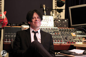 Sean Beavan today in the control room of his Blue Room studios in Laurel Canyon, Los Angeles.