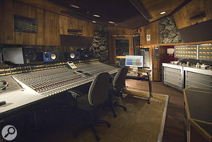 The SSL E/G‑series and sync'ed Studer A800 MkIIIs used for the first mix in Fantasy's Studio D.