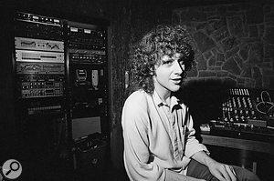 Martin Hannett in the studio, 1980.