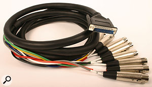 As well as the basic connectors described in this article, a number of others are sometimes used in commercial studios. The D-sub snake pictured here, for example, is often used to provide an eight-channel breakout cable from rack equipment. Others, such as EDAC, are often used in fixed installations where cables are not likely to need plugging and unplugging on a regular basis.