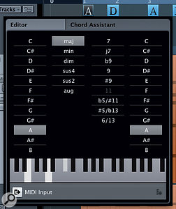 The Chord Editor makes it easy to manually edit your Chord Track chord sequence.