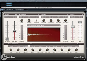 REVelation provides some excellent reverb treatments that can be used for spot effects and, because it is fairly CPU efficient, you can run multiple instances suitable for different tasks within the same project. For spot effects, you can also generally use one of the bigger hall-style presets as shown here.