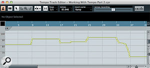 Riding the Tempo Recording Slider allows you to create subtle (or not so subtle) tempo changes during playback.