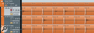 The Crossfades section can smooth out the transitions between each slice and, because of the Offset setting in the Slice Rules section of the Quantize Panel, the crossfades can be positioned prior to the actual hitpoints and therefore do not interfere with the actual drum hits.