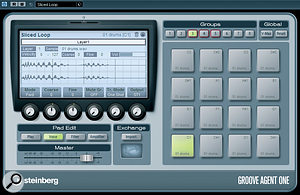 Groove Agent ONE is an MPC‑inspired drum machine VST Instrument that can also be used to play the individual slices of a drum loop.