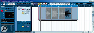 Once edited, the audio Part may look a little odd in the Project window, but it will play back, and further editing can be performed if required.