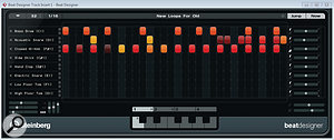 The Beat Designer window has been resized to show all 32 steps used in the current pattern.