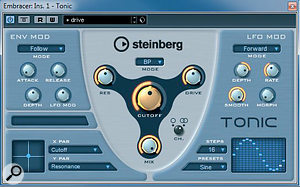 For abasic filter sweep in Tonic, keep things simple: set the Env controls to neutral.