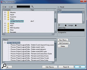 PLE presets can be chained together into amacro, so that one key command can execute several at once.