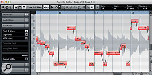 Having recorded your DI'd bass guitar part, you can always improve the quality of the pitch-shifting using VariAudio.