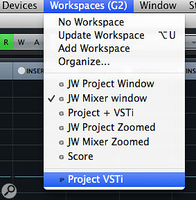 The Workspace system now has its own entry on the main menu system.