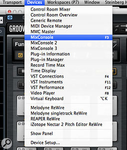 By exploiting the three alternative MixConsole views, you can easily create Workspaces that allow you to switch between different channel-width settings for different mixing tasks.