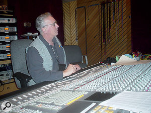 Engineer Tom Flye working on the boxed set All Good Things: Jerry Garcia Studio Sessions in 2003.