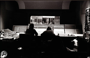 The view from behind the Neve console in Studio 3's control room.