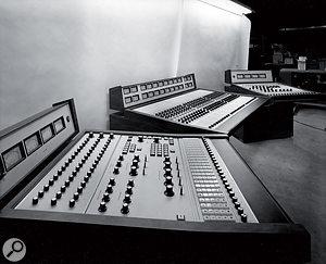 The Spectra Sonics desk in the Record Plant's Studio A.