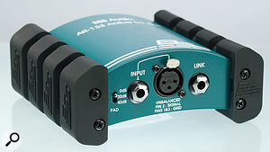 Many DI boxes feature an input attenuator, or 'pad' (shown here on the left, with options for 0dB, -20dB and -40dB). These allow aDI box to accommodate higher-level signals (such as those from active basses) without overloading the transformer in the DI box, or the mic preamp to which the DI is connected.