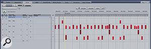 I particularly like the Drum panel for editing MIDI drum parts with the 'grid with velocity' mode shown here.