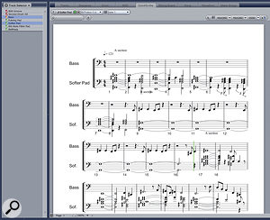 QuickScribe makes it very easy to provide lead sheets for live musicians.