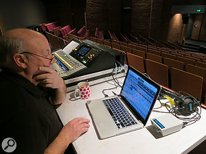 The show was mixed on a Yamaha TF-3 console fed from two Tio 1608-D digital stageboxes.