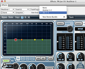 In DP6, compatible AU plug-ins have working side-chain inputs (as shown here on WaveArts' TrackPlug) and fully‑featured automation. The reasons to use MAS versions instead are disappearing fast.