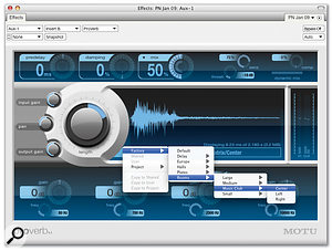 ProVerb, DP6's new convolution reverb plug-in, givespotentially unlimited access to high-quality acoustic treatments.