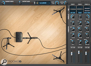 The Live RoomG plug-in is acomprehensive cabinet simulator with numerous miking options.