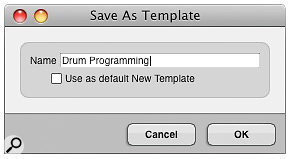 Accessed from the File menu, this little fella lets you save your own templates for future use.