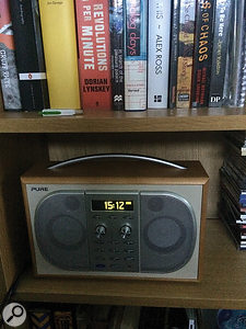 For checking mixes on consumer systems, David Wrench uses this Pure digital radio.