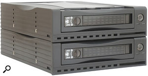 A typical RAID 1 system uses two drives which 'mirror' one another, instantly duplicating all data as it is stored.