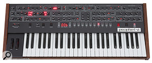 With a  shorter keyboard, the Prophet  6 is smaller overall than its forebear.