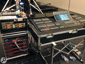 A Yamaha CL5 console was used for the front-of-house mix, and this was connected directly to the Focusrite RedNet units via Ethernet.