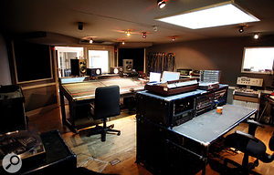 The remix project took over both studios at Mute; this is the control room of Studio One.