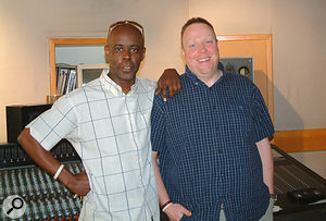 Roger 'RJ' Johnson (left, with Studio Manager 'MJ') undertook much of the detective work of locating the sounds used in the original mixes.