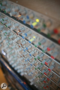 Many of the original albums had been mixed on SSL desks, and for the remixes Kevin  Paul made extensive use of SSL rack hardware to match the character of those mixes.