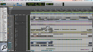 One DAW was not enough to realise Devin Townsend's ambitious musical ideas! These screens show, respectively, part of the final mix for 'Borderlands' (Pro Tools), the orchestral arrangement for 'Why?' (Logic), and a Live set for part of the album's intro.