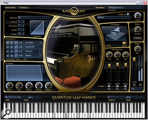EastWest have left behind Tascam's Gigastudio and NI's Kontakt to develop their own Play engine for virtual instruments, as used in the recent Quantum Leap Pianos.